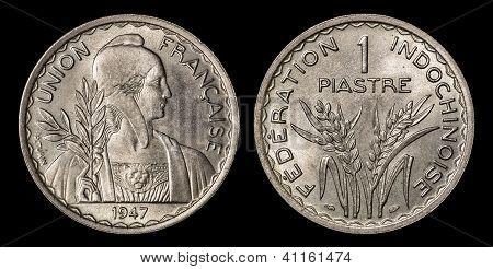 Antique Coin Of 1 Piastre