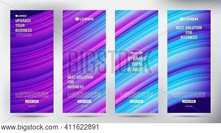 Mesh Color Flow Roll Up Business Brochure Flyer Banner Design Vertical Template, Cover Presentation