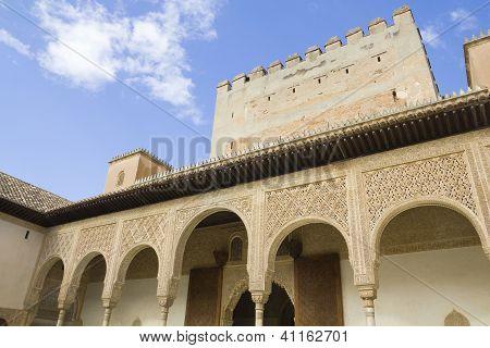 Patio Of Arrayanes Of Alhambra, Granada, Spain