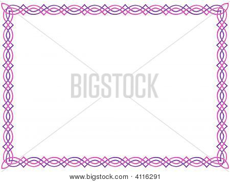 Pink-And-Purple Celtic Border