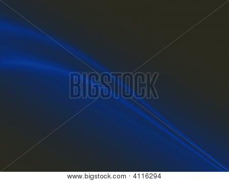 Abstract Black Background With Blue Curves
