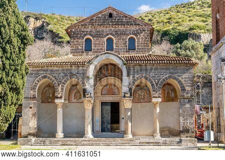 Benedictine Abbey Of Sant'angelo In Formis, Dedicated To The Archangel Michael. Capua, Campania, Ita