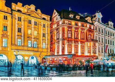 Prague,czech Republic- September 12, 2015: Old Town Square(staromestske Namesti)on Historic Square I