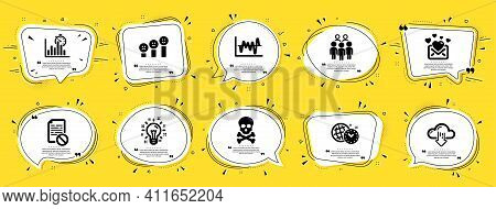 Education Icons Set. Speech Bubble Offer Banners. Yellow Coupon Badge. Included Icon As Love Mail, S