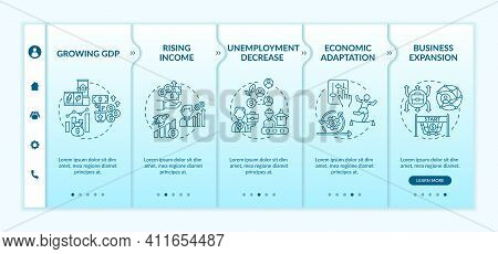 Decreasing Of Employment Onboarding Vector Template. Economic Adaptation. Gross Domestic Product. Re