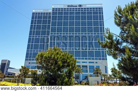 San Diego,ca- April 28,2014:hotel Hilton Located In Downtown Of San Diego City,california,united Sta