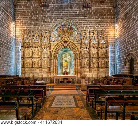 The Chapel Of The Holy Grail In The Cathedral Of Valencia