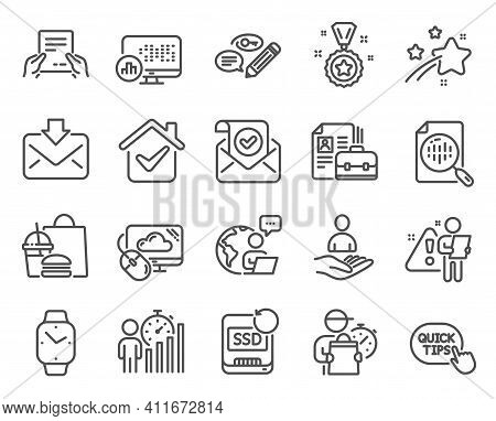 Education Icons Set. Included Icon As Cloud Computing, Recovery Ssd, Quick Tips Signs. Keywords, Bus