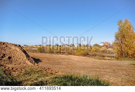 Land Reclamation For Property Development. Sale Of Land At Auction. Commercial Building. Leveling, A