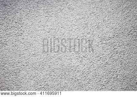 Stucco Wall Texture. White Concrete Surface Background. Gray Plaster Wall Pattern. Distressed Noise