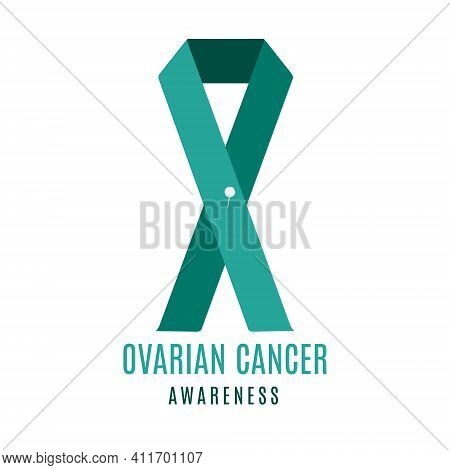 Ovarian Cancer Awareness Ribbon With A Pin