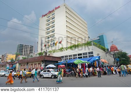 Kolkata, West Bengal, India - 10th September 2019 : Peerless Inn Hotel, Iconic Symbolic Building Of