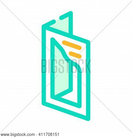 Cutout Booklet Color Icon Vector Illustration Line