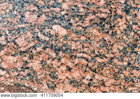 Texture Of Natural Stone Red And Brown Granite Close Up