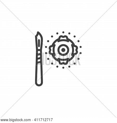 Eye Surgery Line Icon. Vision Correction Linear Style Sign For Mobile Concept And Web Design. Human