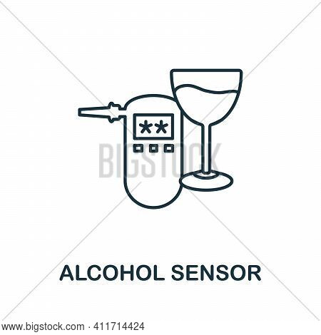Alcohol Sensor Icon. Simple Element From Sensors Icons Collection. Creative Alcohol Sensor Icon Ui,