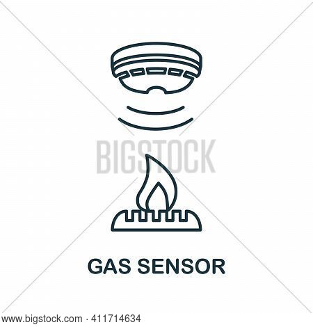 Gas Sensor Icon. Simple Element From Sensors Icons Collection. Creative Gas Sensor Icon Ui, Ux, Apps