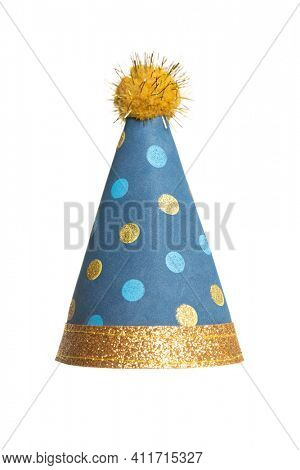 birthday hat on an isolated white background
