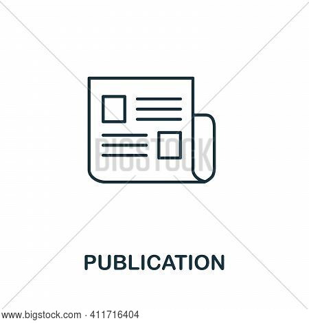 Publication Icon. Simple Element From Social Media Collection. Creative Publication Icon For Web Des