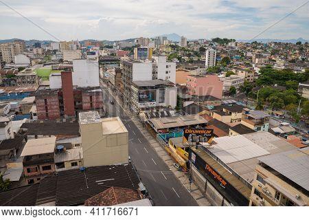 Rio De Janeiro, Brazil - January 31, 2021: Aerial View Of Duque De Caxias City, Which Is A Part Of G