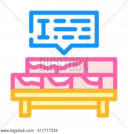 Brickwork Courses Color Icon Vector Illustration Line