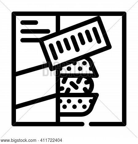 Sets Of Cooked Meals Line Icon Vector Illustration