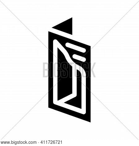 Cutout Booklet Glyph Icon Vector Illustration Sign
