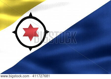 Bonaire Flag - Realistic Waving Fabric Flag