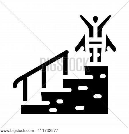 Career Advancement Glyph Icon Vector Illustration Sign