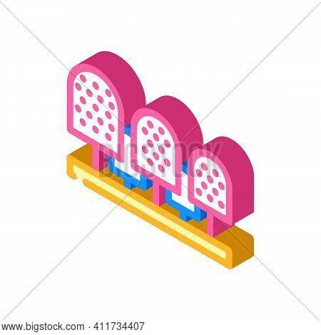 Burs And Cutters For Cleaning And Removing Calluses Isometric Icon Vector Illustration
