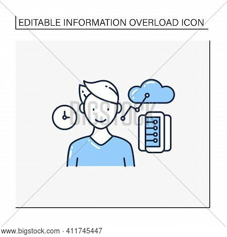 Information Age Line Icon. Opportunities For Individuals To Process Information Freely And Have Inst
