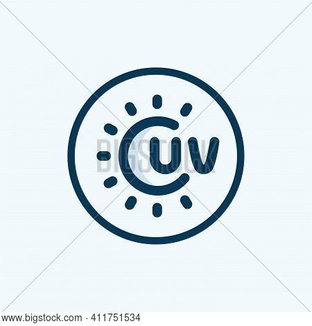 Uv Ray Warning Icon Isolated On White Background From Signs Collection. Uv Ray Warning Icon Trendy A