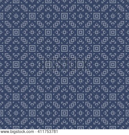 Vector Geometric Ornament In Ethnic Style. Abstract Seamless Pattern With Small Squares, Diamonds, T