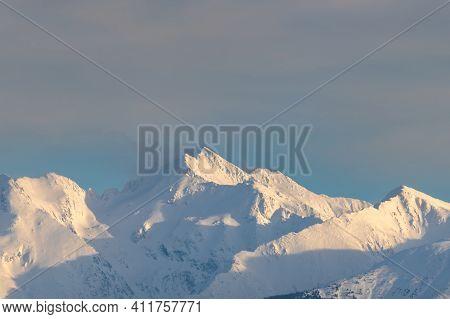 Mountains Covered In Snow, Fagaras Mountains Peak, Negoiu Peak, Mountains View Covered In Snow