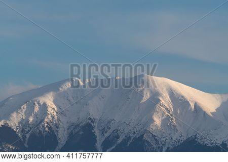 Mountain Peak Covered In Snow, Fagaras Mountains Peak, Negoiu Peak, Mountains View Covered In Snow
