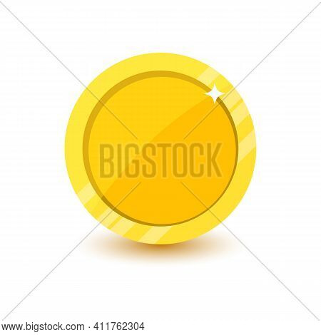 Flat Coin Vector Icon Isolated On White Background