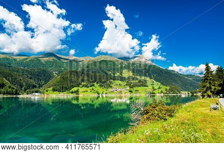 Reschensee, An Artificial Lake In South Tyrol, The Italian Alps