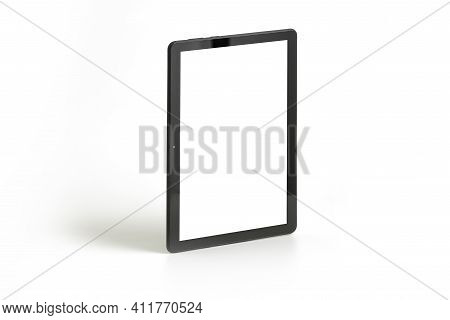 Tablet Pc Isolated On White, Front View , Include Two Clipping Paths - For Tablet And For Screen