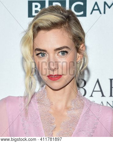 LOS ANGELES - SEP 16:  Vanessa Kirby arrives for  BAFTA TV Tea Party 2017 on September 16, 2017 in Beverly Hills, CA