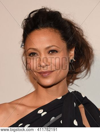 LOS ANGELES - JAN 7:  Thandie Newton arrives for  BAFTA Los Angeles Tea Party 2017 on January 07, 2017 in Beverly Hills, CA