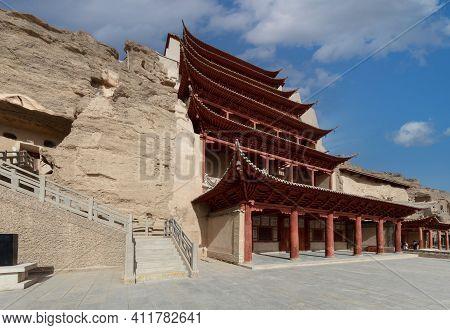 中国-甘肃-敦煌莫高窟the Mogao Grottoes