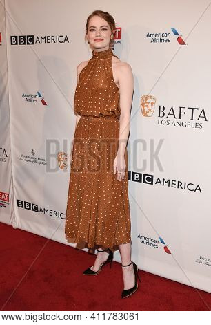 LOS ANGELES - JAN 7:  Emma Stone arrives for  BAFTA Los Angeles Tea Party 2017 on January 07, 2017 in Beverly Hills, CA