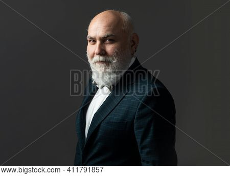 Happy Modern Grandfather Or Grandpa. Middle Aged, Old Male Model
