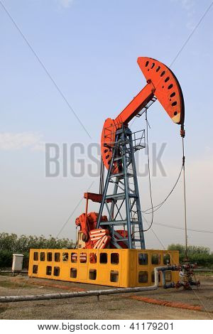 Oil Pumping Unit In Working