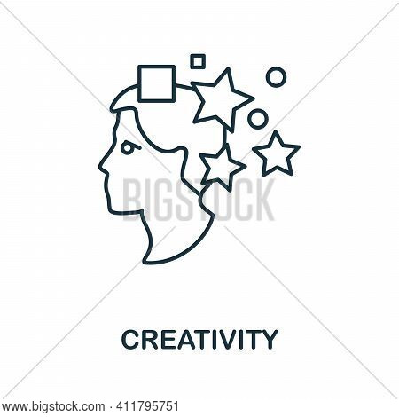 Creativity Icon. Simple Illustration From Startup Collection. Creative Creativity Icon For Web Desig