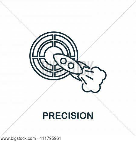 Precision Icon. Simple Illustration From Startup Collection. Creative Precision Icon For Web Design,
