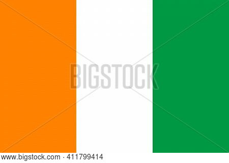 National Flag Of Ivory Coast In The Original Size,colours And Proportions(2:3)