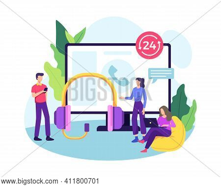 Call Center Illustration Concept