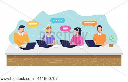 Call Center Concept Illustration