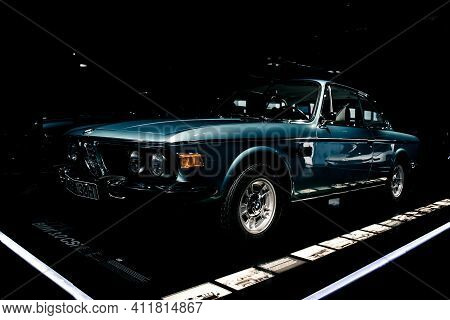 Munich/ Germany - May, 24 2019:bmw 3.0 Csi Car In Bmw Museum/ Bmw Welt